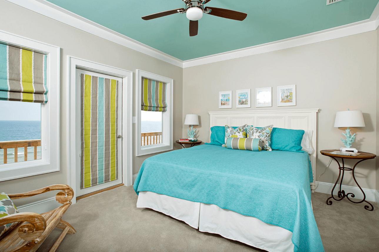 Матовый потолок в спальне